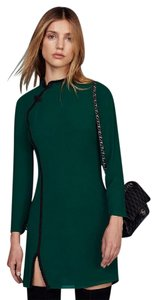 Reformation Slim Mini High Neck Long Sleeve Dress