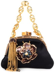 Gucci Wristlet in Black & Gold