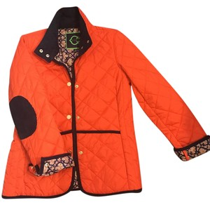 C. Wonder Quilted Corduroy C. Nylon Orange Jacket