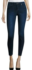 JOE'S Jeans Ankle Cropped Dark Denim Skinny Jeans-Dark Rinse
