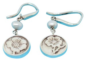 Tiffany & Co. Tiffany & Co. Nature Rose Flower Pearl Dangle Earrings