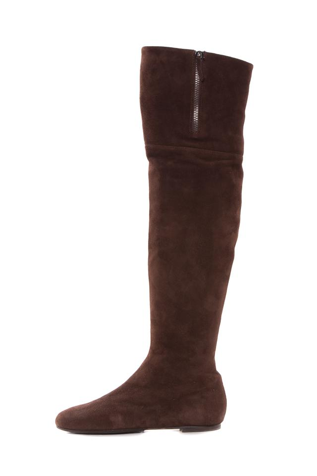 Ladies Brown Valentino Brown Ladies Over-the-knee Suede Boots/Booties High-quality 5a7974