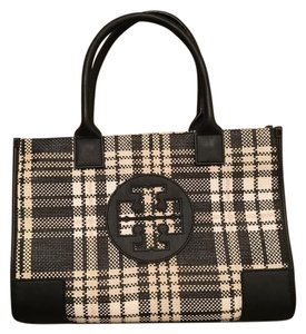 Tory Burch Satchel in Black, white and cream