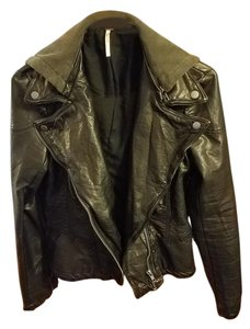 Free People Leather Pleather Moto Leather Leather Jacket