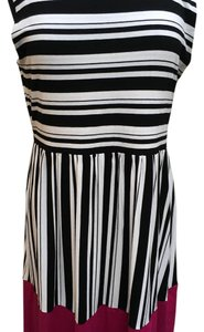 Kenar short dress Black white pink on Tradesy