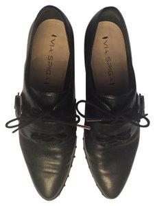 Via Spiga Brogue Black Flats