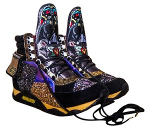 Irregular Choice Disney Star Wars Darth Vader Glitter Light Up Black Athletic