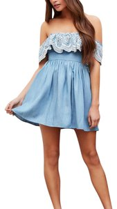 Lovers + Friends short dress blue and white on Tradesy