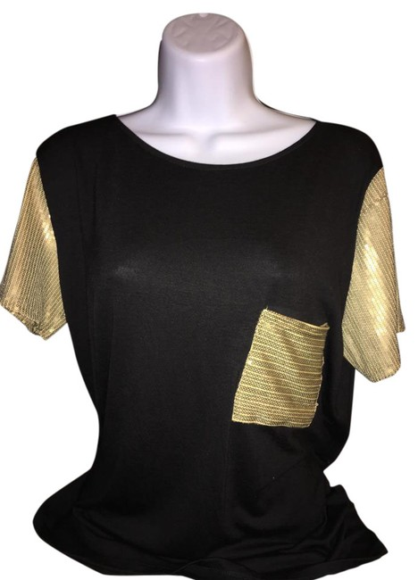 Preload https://img-static.tradesy.com/item/20609204/black-with-gold-pocket-in-front-blouse-size-6-s-0-1-650-650.jpg
