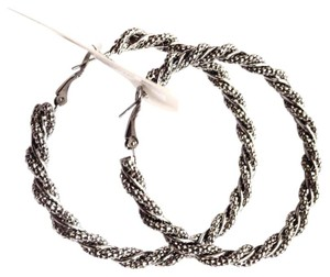 BCBGeneration gunmetal spiral hoop earrings