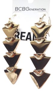 BCBGeneration gold spike arrow bohemian earrings