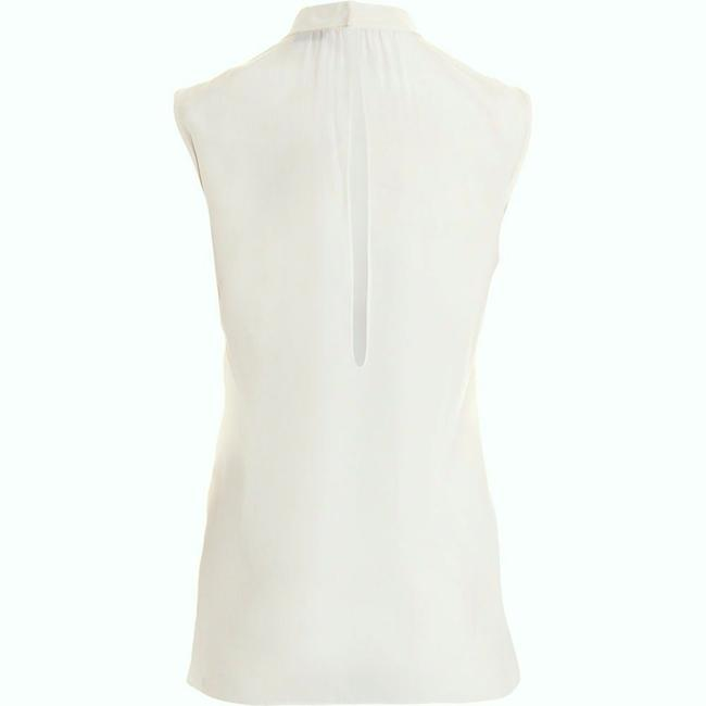 Joseph Silk High Neck Sleeveless Silk Top Cream