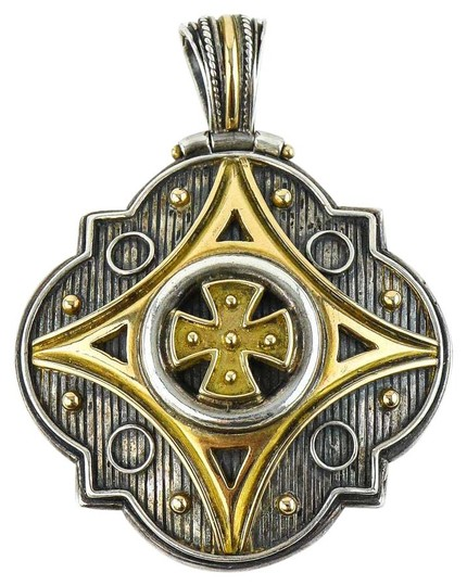Preload https://img-static.tradesy.com/item/20609320/konstantino-925-silver-18k-gold-and-gothic-pendant-charm-0-1-540-540.jpg