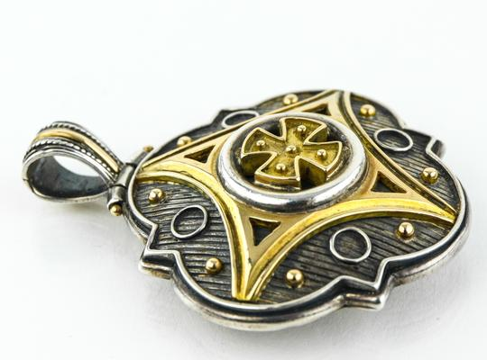 Konstantino * 18k Gold and 925 Silver Gothic Pendant.