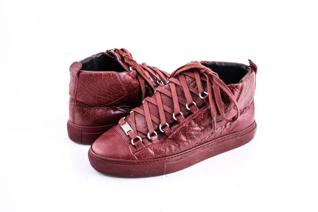 Balenciaga Red Arena High Top Sneakers Burgundy Shoes Balenciaga Red Arena High Top Sneakers Burgundy Shoes Image 1