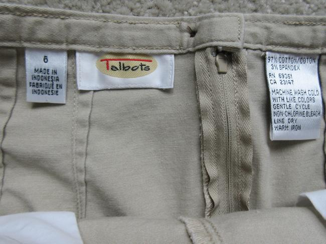 Talbots Cotton/Spandex A-line Back Slit Skirt buff (yellowish-beige)