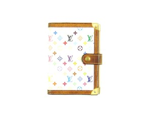 Louis Vuitton Agenda PM Monogram Mini Leather Notebook Day Planner Cover w/ Ruler