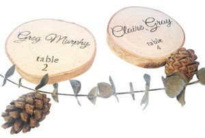 Wood Slice Placecards