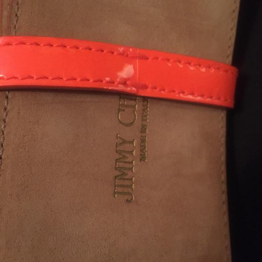 Jimmy Choo jimmy chop neon orange belt