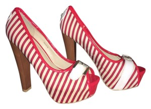 Charlotte Russe Red and white Platforms