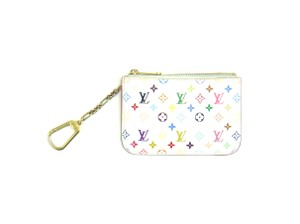 Louis Vuitton Pochette Cles Monogram Multicolor Credit Coin Purse Chain