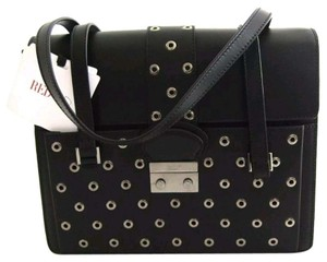 Valentino Satchel in Black with silver accent