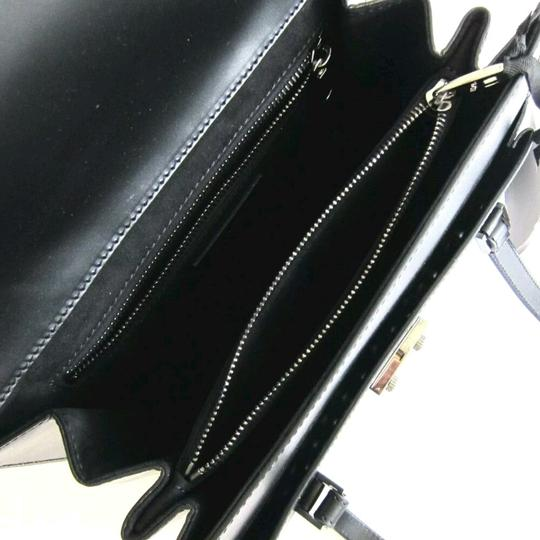 Valentino Studded Leather Medium Satchel in Black with silver accent