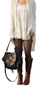 Frye Melissa Button Riding Cognac Leather Equestrian B Brown Boots