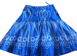 Anthropologie Skirt Blue and white