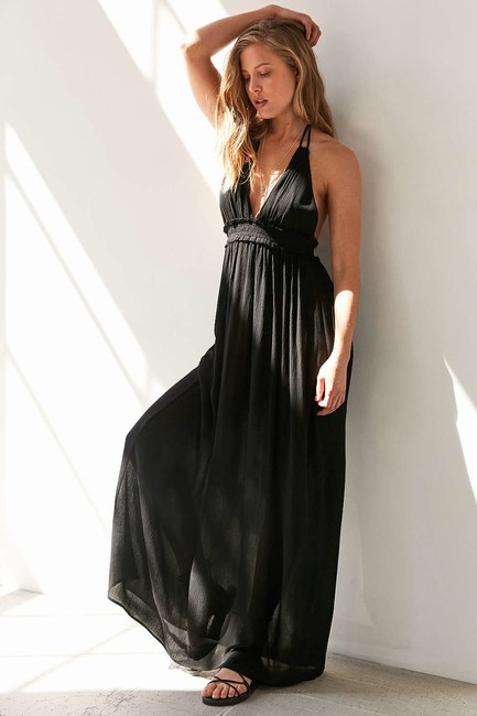 Preload https://img-static.tradesy.com/item/20609817/ecote-black-gauzy-plunging-halter-long-casual-maxi-dress-size-2-xs-0-2-650-650.jpg
