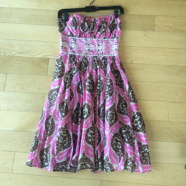 brown and pink Maxi Dress by Anthropologie