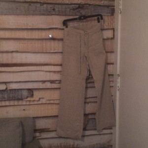 INC International Concepts Super Flare Pants beige