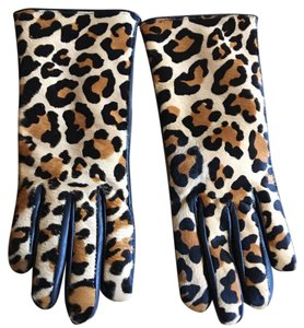 Cole Haan leopard gloves