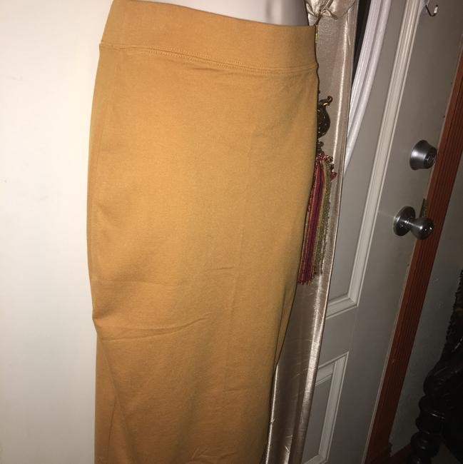 Iris Basic Skirt mustard yellow