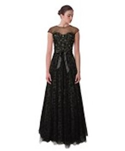 Teri Jon Evening Gown Embellished Fomal Tulle Dress