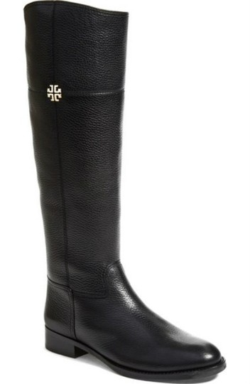 87474bb8633b9 Tory Burch Black Jolie Riding Leather Boots Booties Size US 8.5 ...