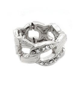 Other Silver Rhinestone Stretch Ring