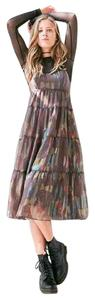 multi Maxi Dress by Urban Outfitters 90's Grunge Babydoll Festival Bohemian