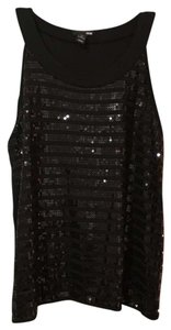 H&M Sleeveless Top Black with sequins