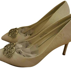 Zac Posen Ivory Lace Wedding Shoes