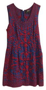 Sachin + Babi short dress Blue Embroidered Sheath Mini Detail Bright on Tradesy