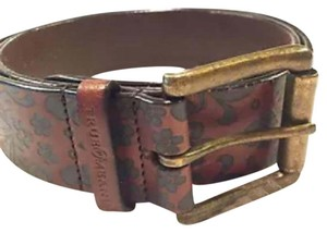 True Meaning Embossed Floral Leather Belt