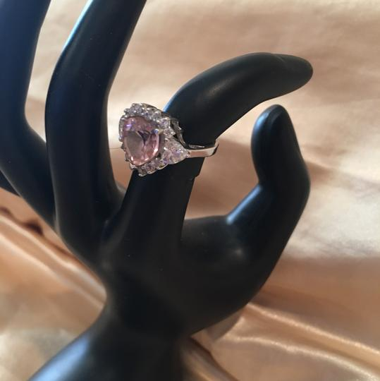 Other Pink heart shaped sterling ring with cz