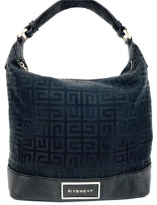 Givenchy Canvas Pebbled Leather Signature Hobo Bag