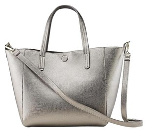 Basic Editions Reversible Big Big Sparkle Tote in Silver