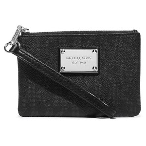 Michael Kors Michael Kors Jet Set Small Signature Wristlet Black