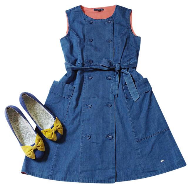 Preload https://img-static.tradesy.com/item/20610458/tommy-hilfiger-blue-classy-denim-with-pockets-and-belt-mid-length-short-casual-dress-size-0-xs-0-1-650-650.jpg