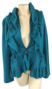 Anthropologie Boiled Wool deep teal Jacket