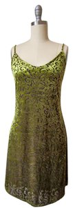 ceduxion short dress green Velour Velvet Mini Brown on Tradesy