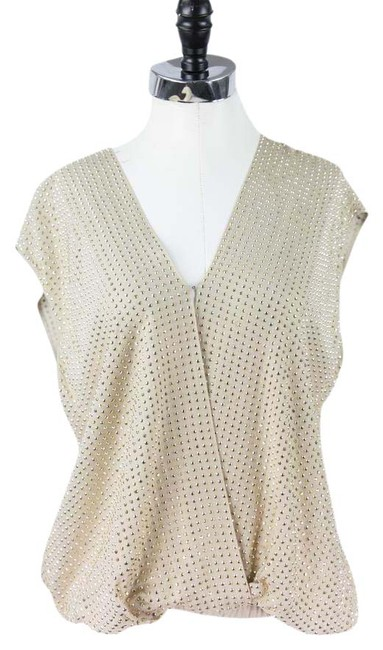 Item - Silver Silk Studded Tank Top/Cami Size 6 (S)